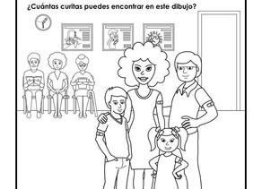 ¡Actividad para tus niños! ¡Busca y dinos cuantas curitas encontraste en el dibujo!