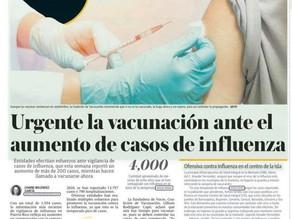 Urgente la Vacunación ante el aumento de casos de Influenza