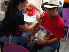 Vacunación en Guánica en varios refugios