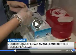 Covertura especial de Noticentro al Amanecer Vacunación Gratis en Peñuelas el 16 de enero de 2020