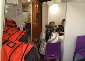 Vacunación y Distribución de materiales en Guayanilla, Pista Atlética, con el apoyo de Direct Relief