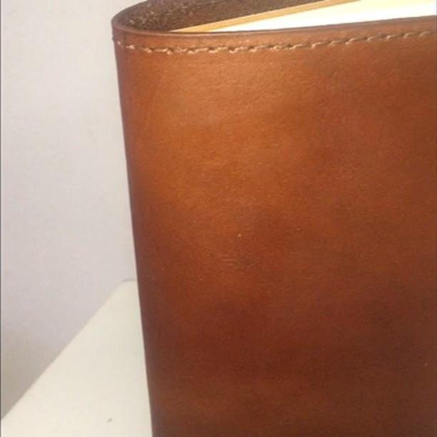 Leather notebook holder