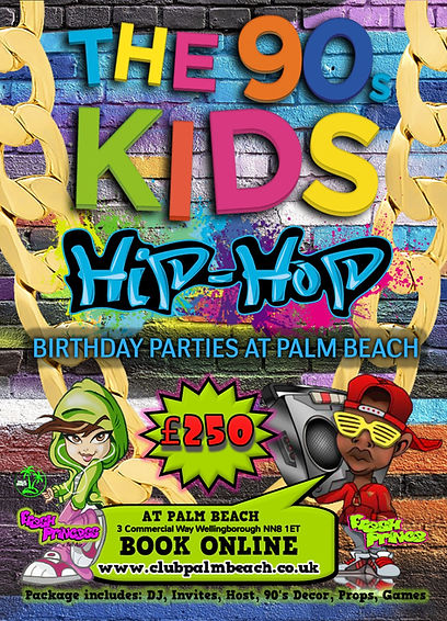 Children's HIP HOP Birthday Party Packages at Palm Beach Wellingborough
