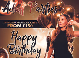 Adult Parties and Celebrations at Palm Beach Wellingborough