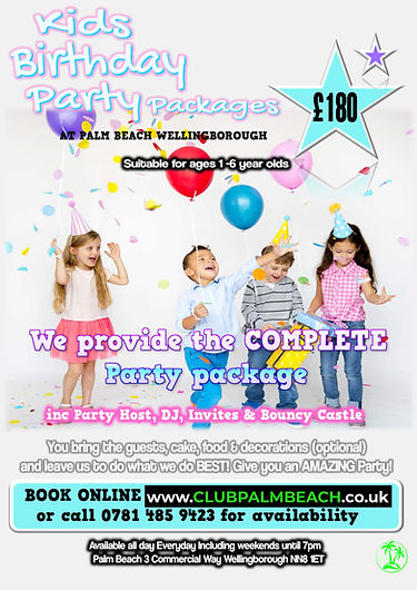 Kids Birthday Party Packages at Palm Beach