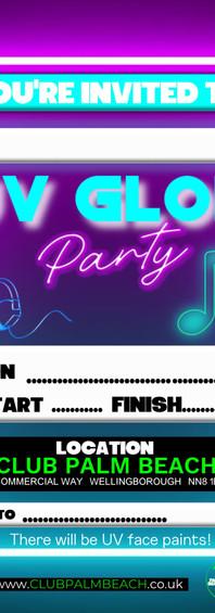 Glow Party Invite