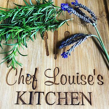 Chef Louise's Kitchen Cutting Board.JPG