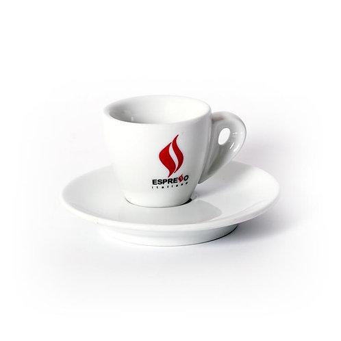 Lot de 6 tasses Espresso avec logo
