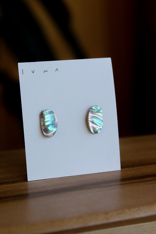 Small Studs - 3 available - Abalone October Collection