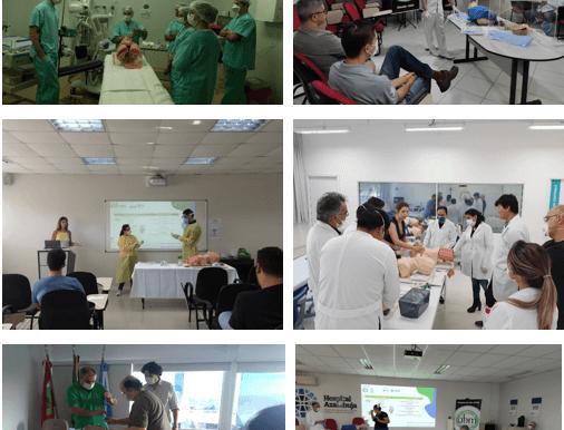 Treinamento de intubação e uso de EPI's percorre Santa Catarina no combate ao novo coronavírus