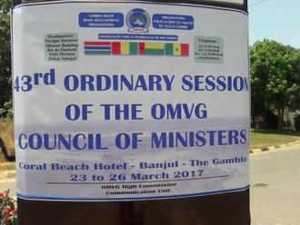 43ème Session Ordinaire du Conseil des Ministres de l' O.M.V.G.