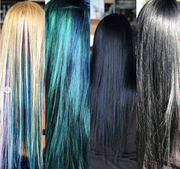 When you get a new job and have to go from full mermaid hair to corporate mermaid hair