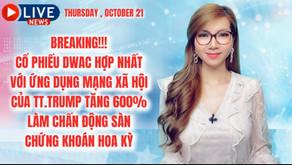 BREAKING!!! CỔ PHIẾU DWAC HỢP NHẤT VỚI ỨNG DỤNG MẠNG XÃ HỘI CỦA TT.TRUMP TĂNG 600%
