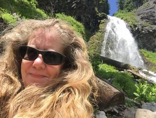 Cathy's Waterfall Selfie