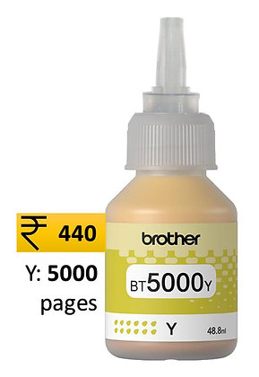 Brother Ink BT5000Y Yellow genuine inks