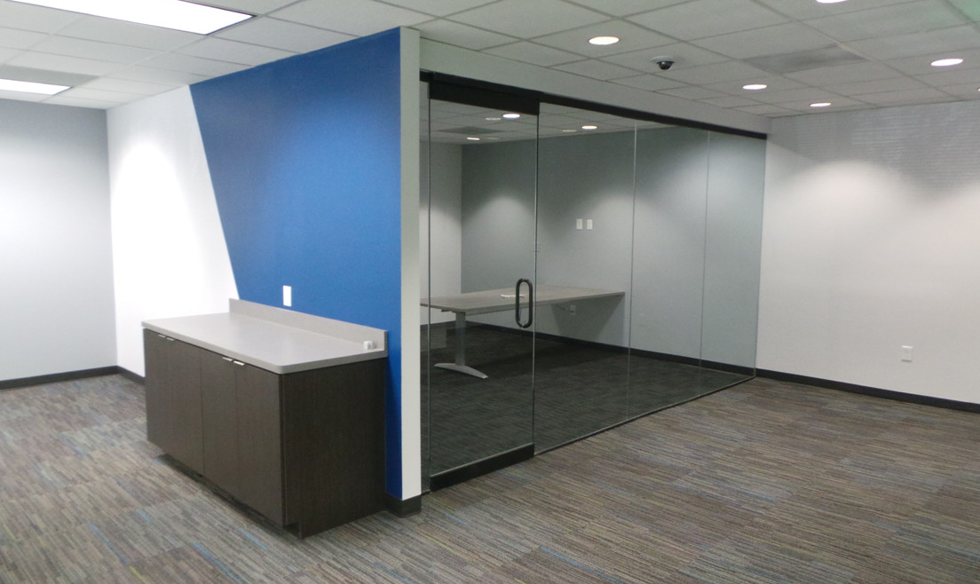 Office with Glass for Doors - Buildout Pros