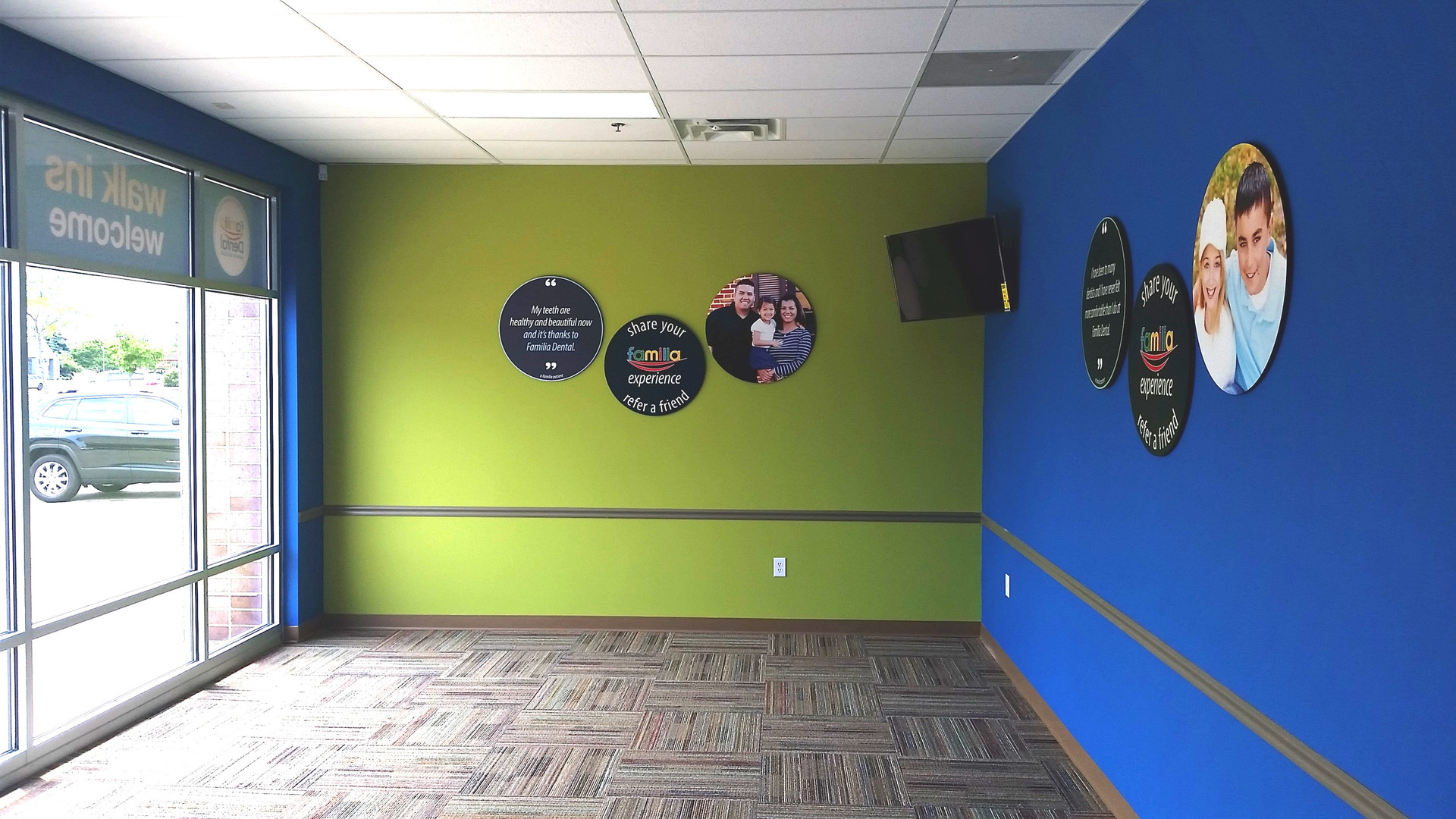 Green & Blue Walls - Buildout Pros