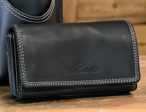 Schwarz Kontrast Geldtasche