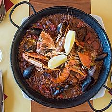 Paella catalana ai frutti di mare
