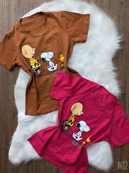 T-shirt Snoopy e Charlie Brown
