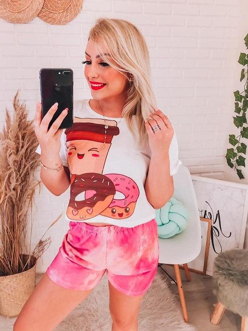 Pijama Donuts Tie Dye