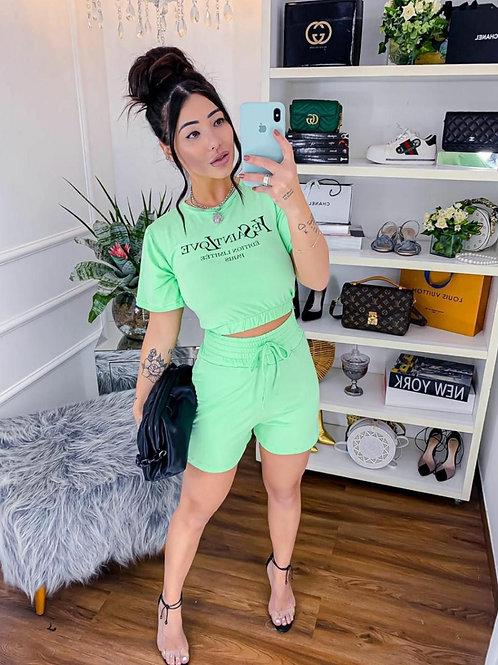 Conjunto Verde Pastel