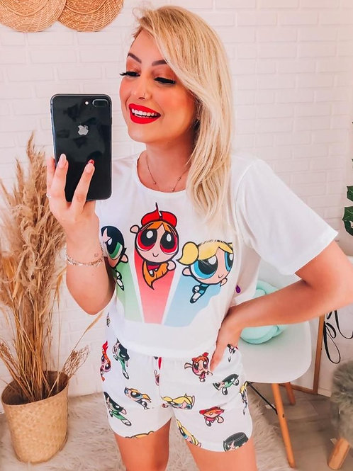 Pijama Claro Meninas Super Poderosas