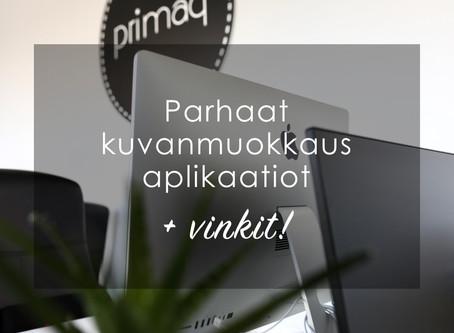 Parhaat kuvanmuokkaus applikaatiot + vinkit!
