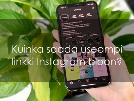 Kuinka saada useampi linkki Instagram-profiilin bioon? 💬