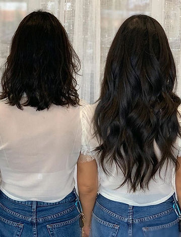 From a short thin bob to long gorgeous l
