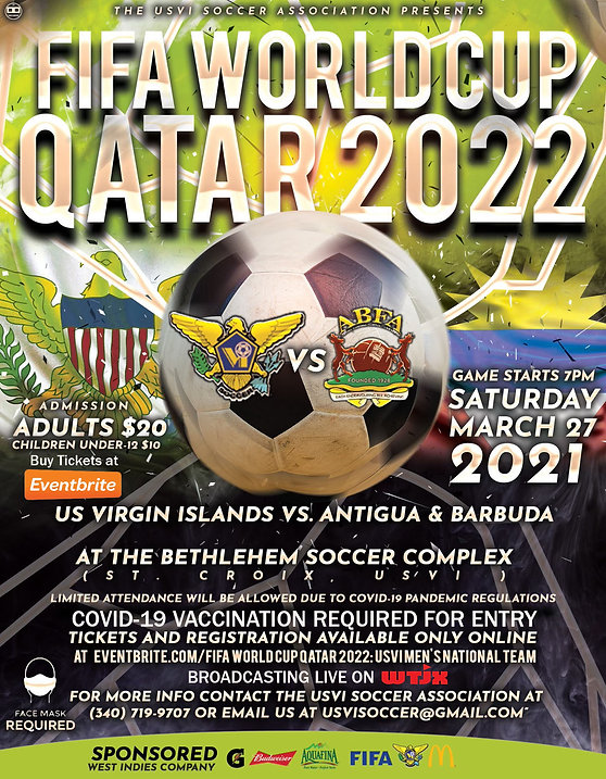 FIFA WORLD CUP QATAR 2022 USVI MEN NATIO