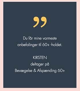 Bevægelse 60+ Afspænding Psykomotorisk terapeut Helene Dorf