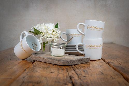 Goldschätzchen Kaffeebecher