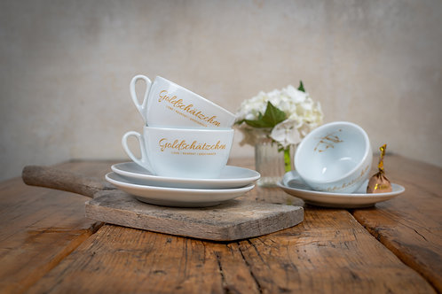 Goldschätzchen Cappuccino-Tassen