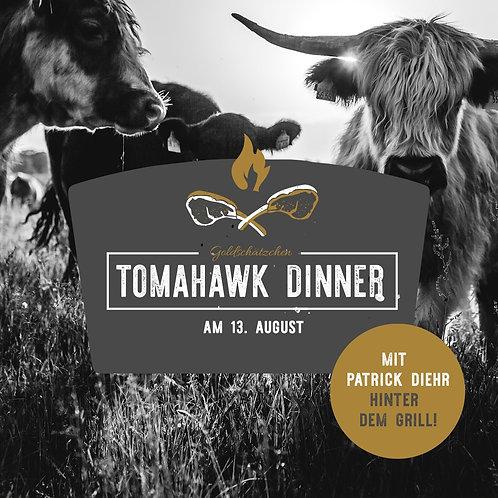 Tomahawk-Dinner für 2 Personen I 13. August 21