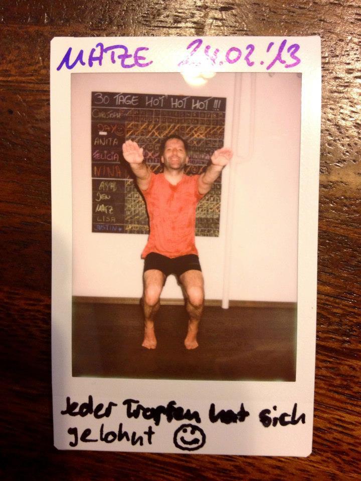 30 days hot yoga challenger Matze