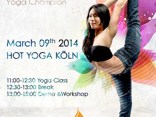 Workshop und Klasse mit ChauKei Stefanie Ngai - Yoga Champion 2013