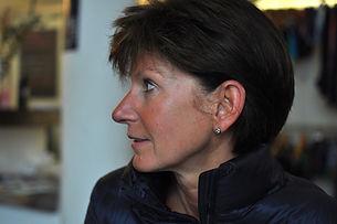 Kirsten im Foyer unseres Yogastudios in Köln