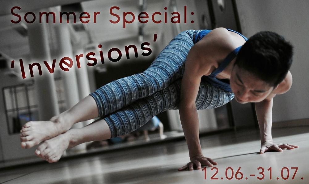 Banner für das Yoga Sommer Special 2016: Inversions