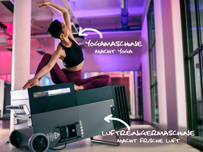 Neuer Luftreiniger im Yogastudio