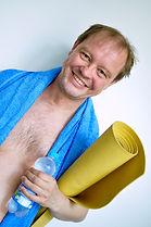 Jens-Peter vor dem Yogakurs