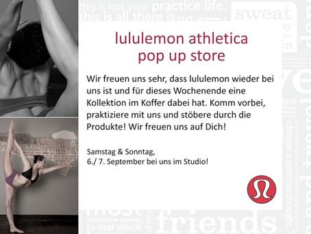 lululemon athletica Pop Up Store bei Hot Yoga Köln