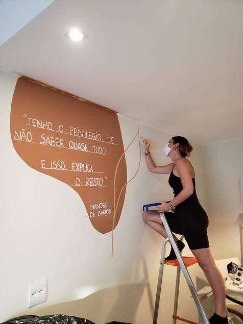 Pintura em parede projeto residencial, RJ | 2020