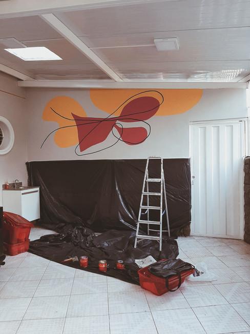 Pintura em parede para Clínica Mangabeiras, BH | 2019