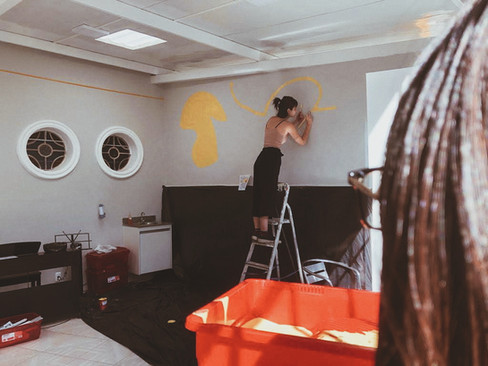 Pintura em parede para Clínica Mangabeiras, BH   2019