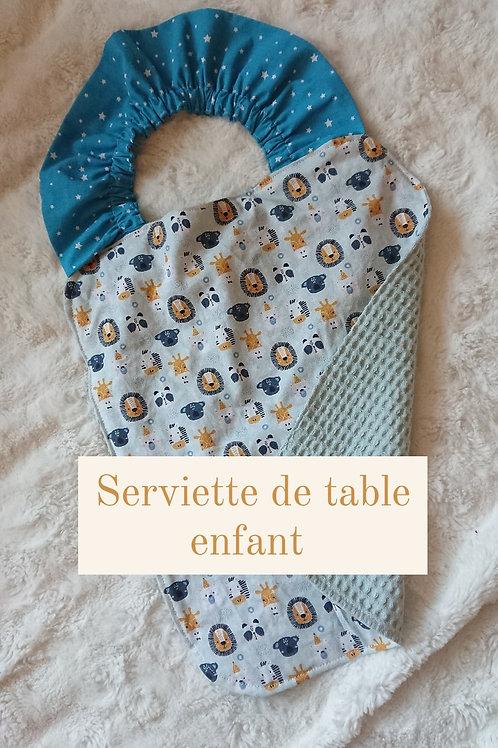 SERVIETTE DE TABLE ENFANT