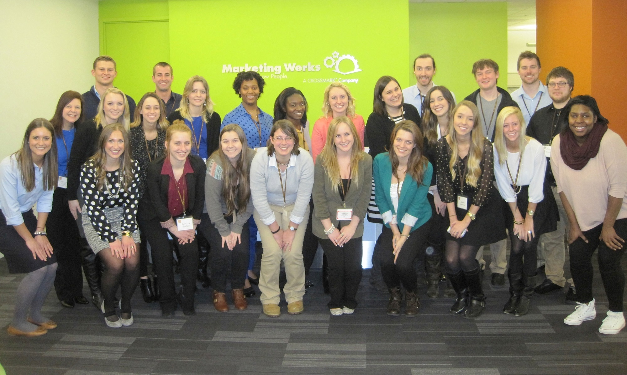 Marketing Werks with students, alumni, and Dr. L