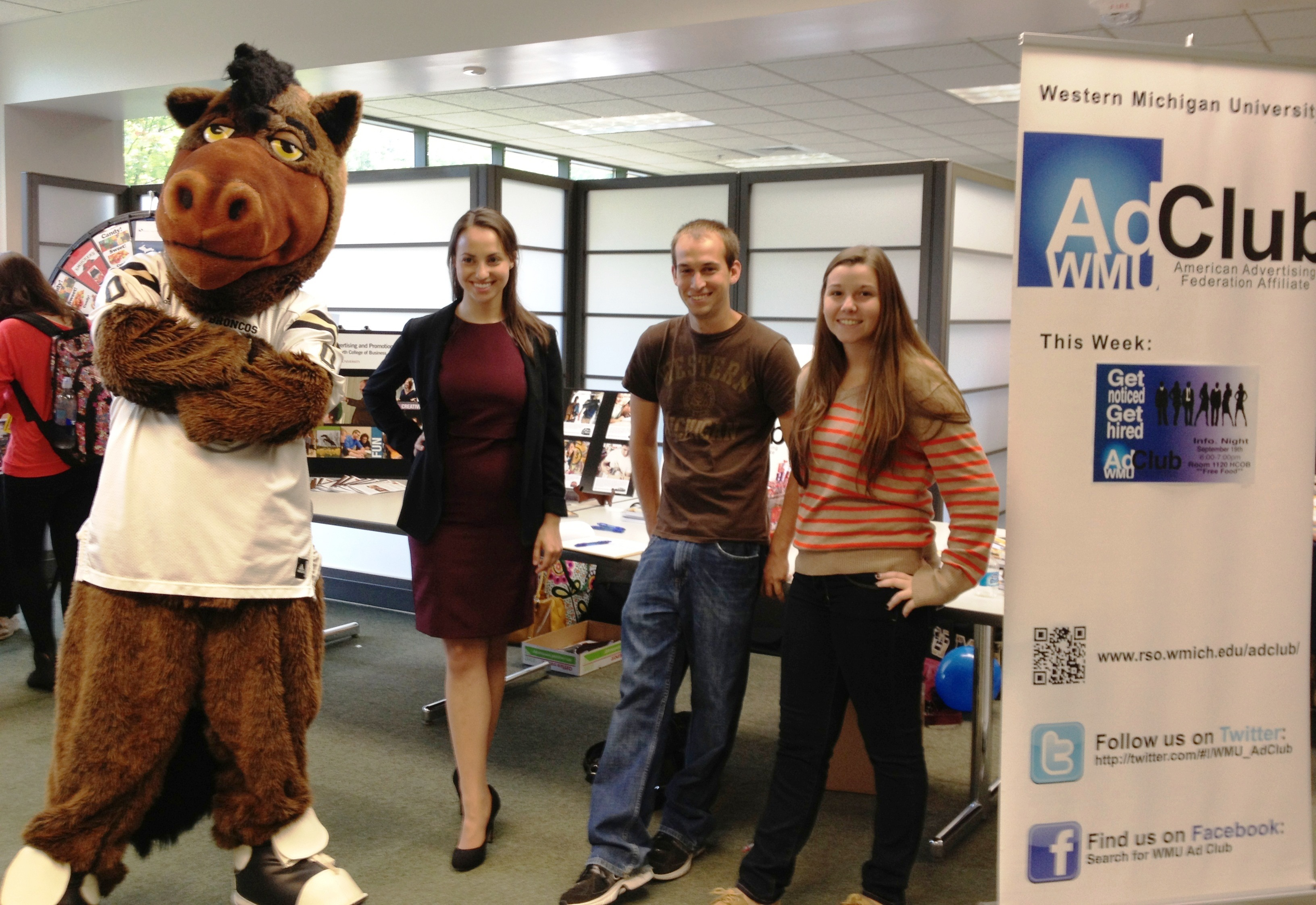 Buster, Emily, Robbie, and Kim at Business Bash