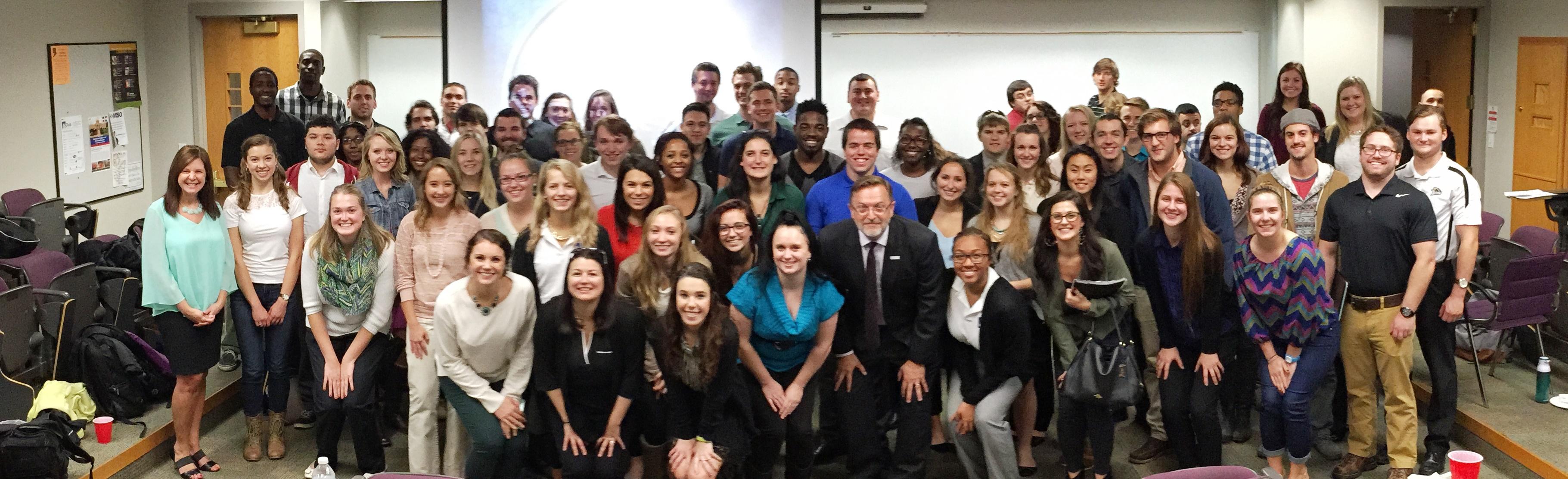 Students at Pure Michigan presentation