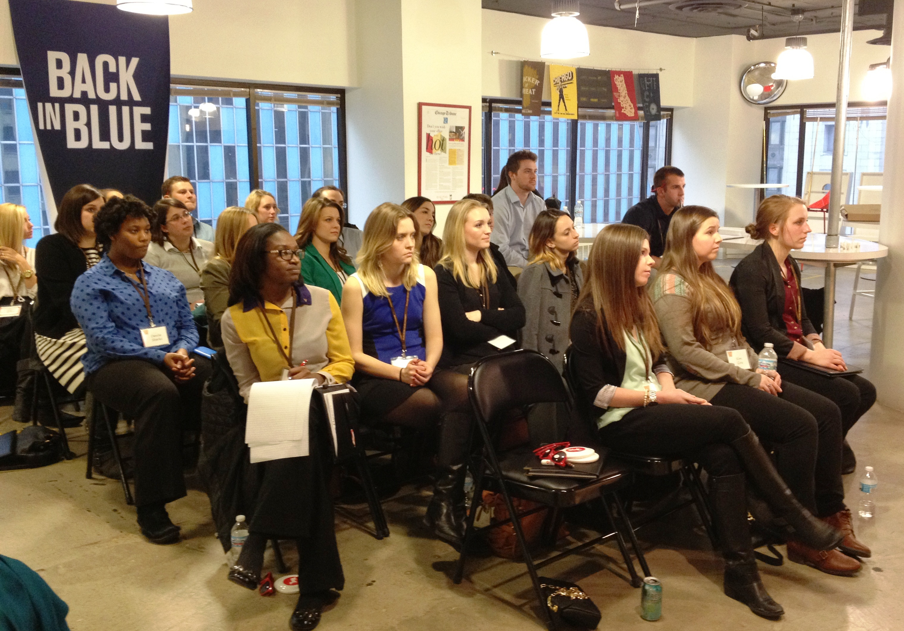 Students at Digitas panel